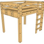 Queen Loft Bed Plans Palmetto Bunk Bed Plans