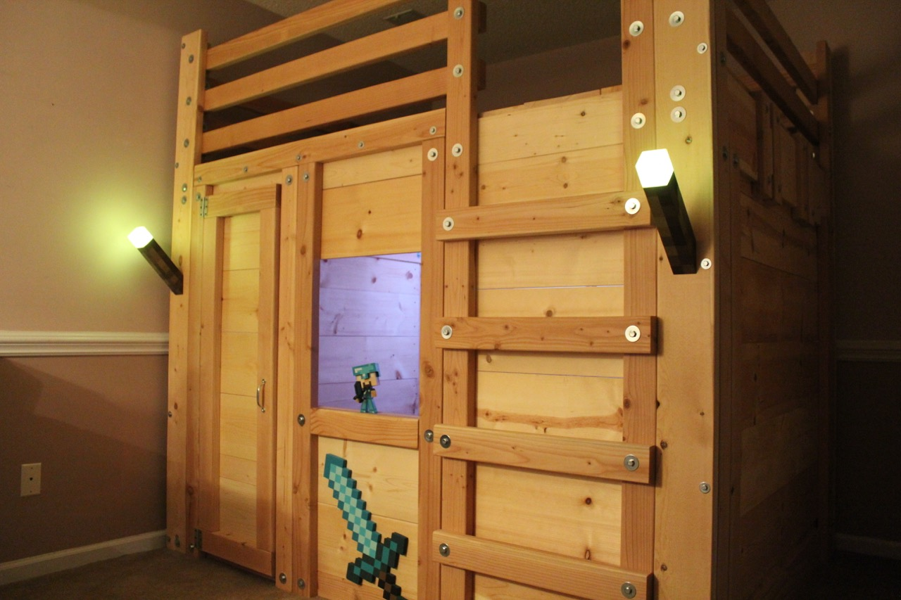 Minecraft Themed Room Palmetto Bunk Beds
