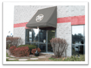 Add a decorative door or window awning to your business storefront. Your logo stands out proud on our beautiful awnings, but still protecting the inside from glare and UV Rays.