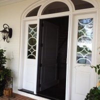 Retractable Screens are better than a traditional screen door. They hide away when not in use. Seven standard colors and seven wood grain colors to select from.