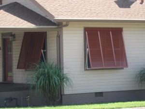 Red Window shutters