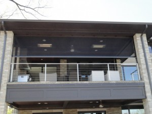 DuraScreen Motorized Retractable Screens are sold by Palmetto Outdoor Spaces.