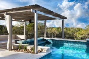 Pool with American Louvered Roof