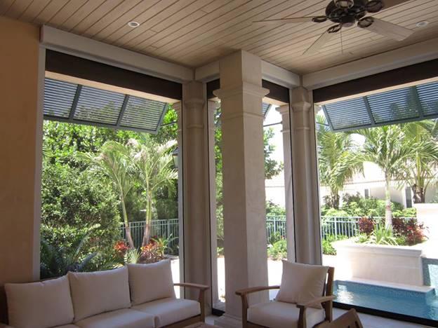 Fenetex Exterior Retractable Screens Amp Drop Shades For Porch