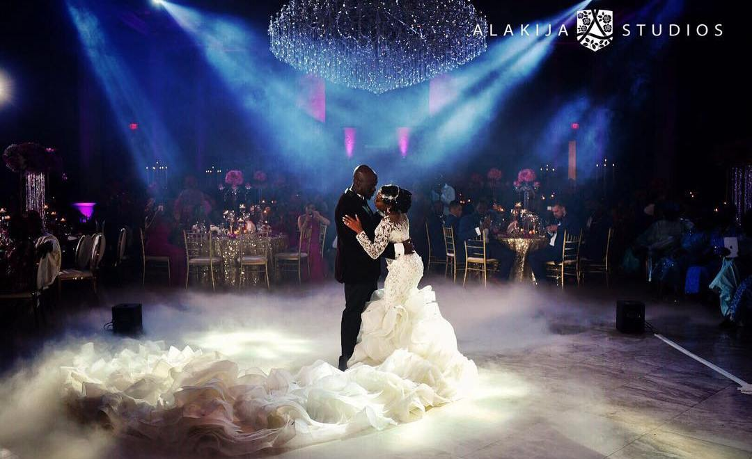 PHOTOS: Bride dazzles in a 16ft Custom Bejeweled Wedding Dress