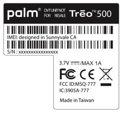 Treo 500 Receives FCC Aproval