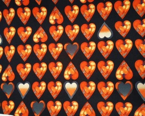 Ткань суперсофт сердечки красные купить оптом недорого