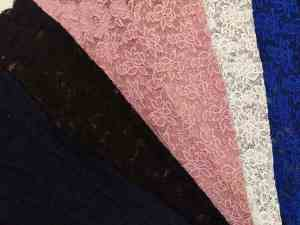 Ткань Гипюр стрейтч Купоном в цветах купить оптом в Украине