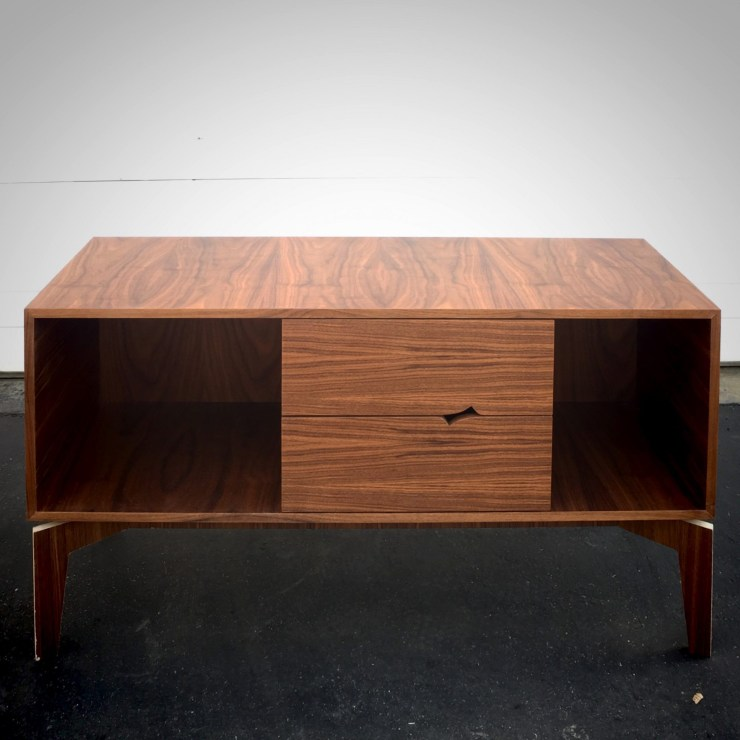 Modern TV Stand made with Walnut