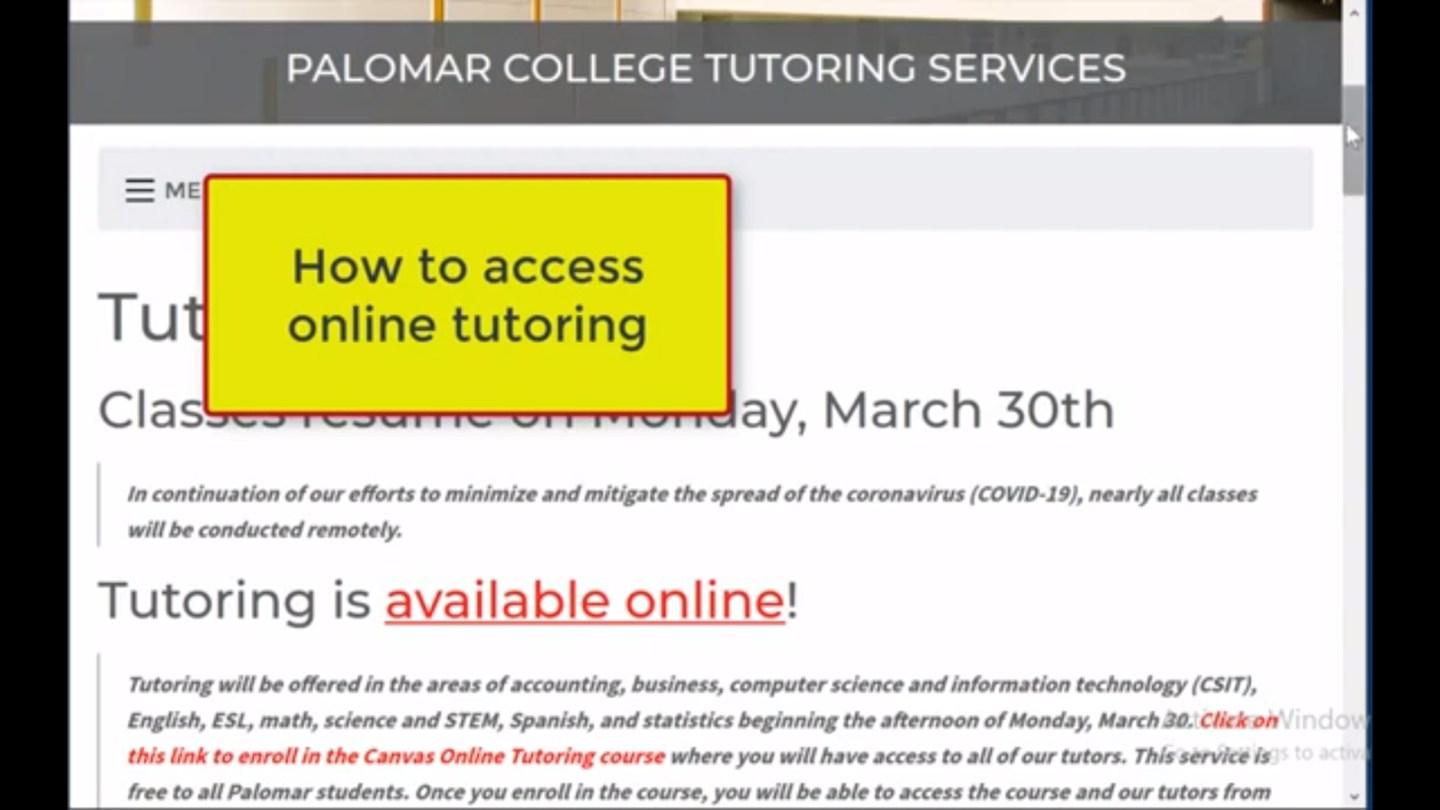 Connect with a Tutor