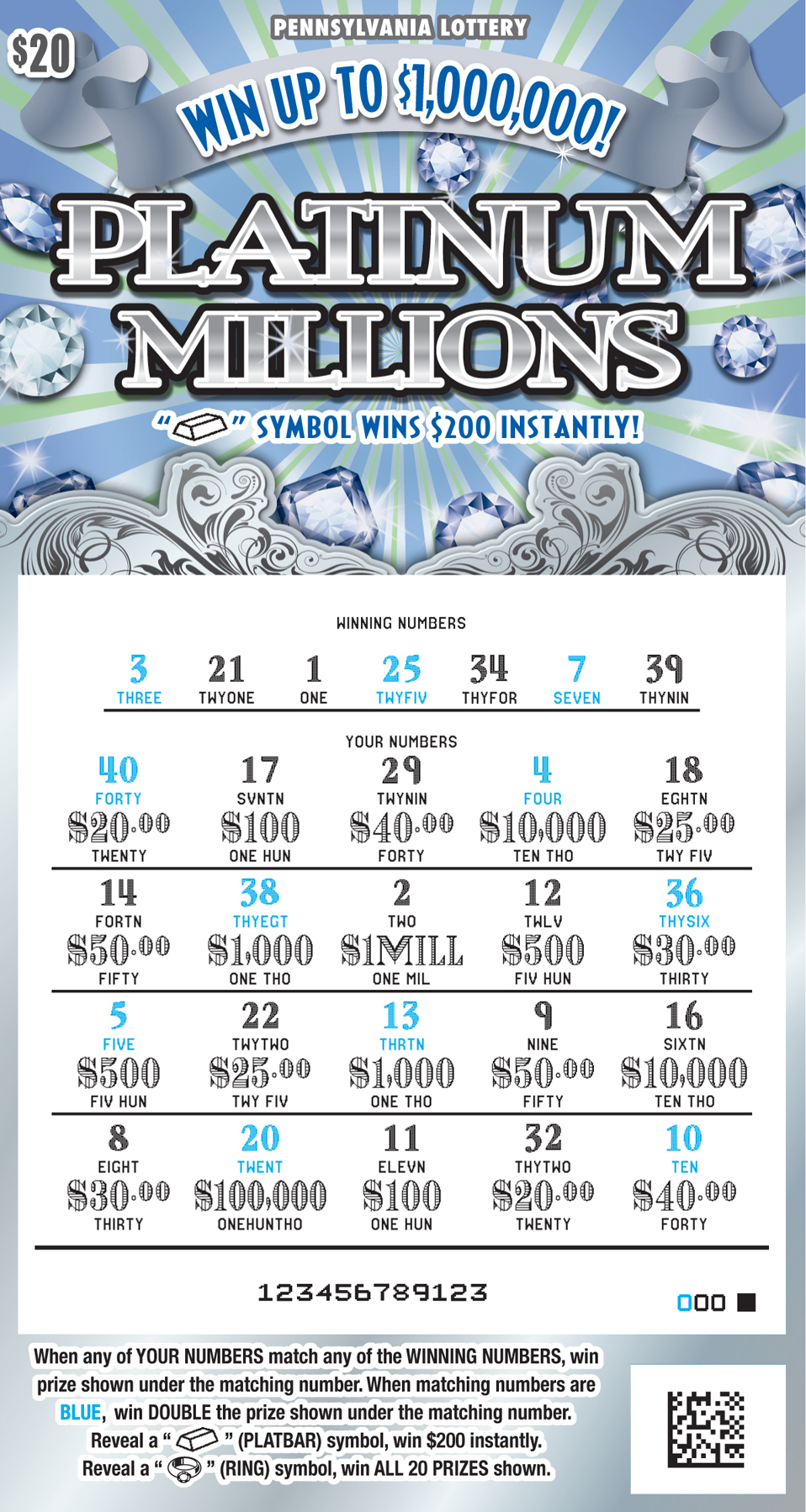 Pennsylvania Lottery PA Lottery Scratch Offs