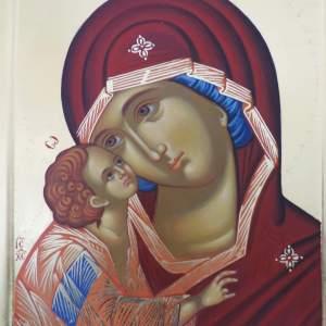 Icoană pictată la comanda Maica Domnulu