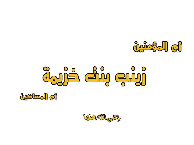 أم المساكين زينب بنت خزيمة
