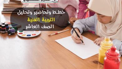 Photo of خطط وتحاضير وتحليل تربية فنية – الصف العاشر