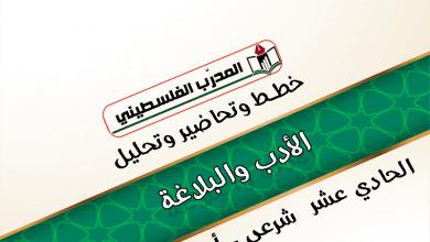 Photo of خطط وتحاضير وتحليل في مادة الادب والبلاغة الصف الحادي عشر شرعي وادبي الفصل الأول