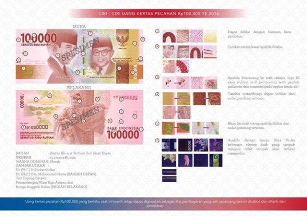 Pecahan seratus ribu (Foto: Bank Indonesia)
