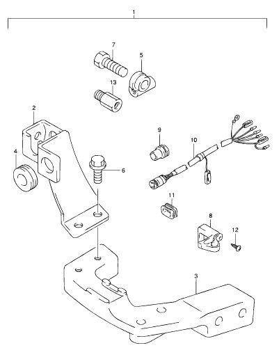 Suzuki remote control attaching kit DF9.9/DF15 2001 to