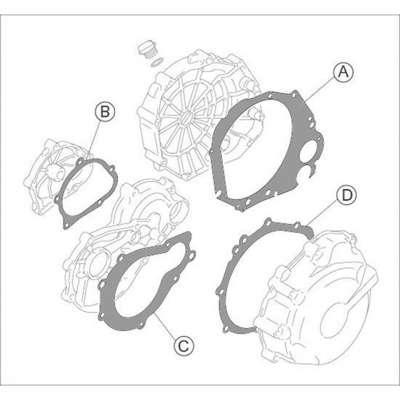Pochette de joint moteurs metalliques Yoshimura GSXR1000