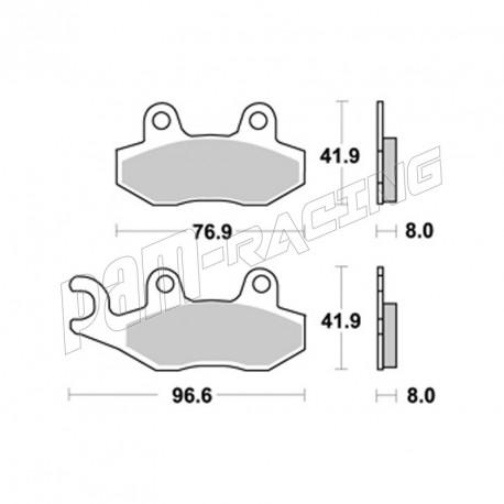 Plaquettes de freins arrière AP RACING SR route métal