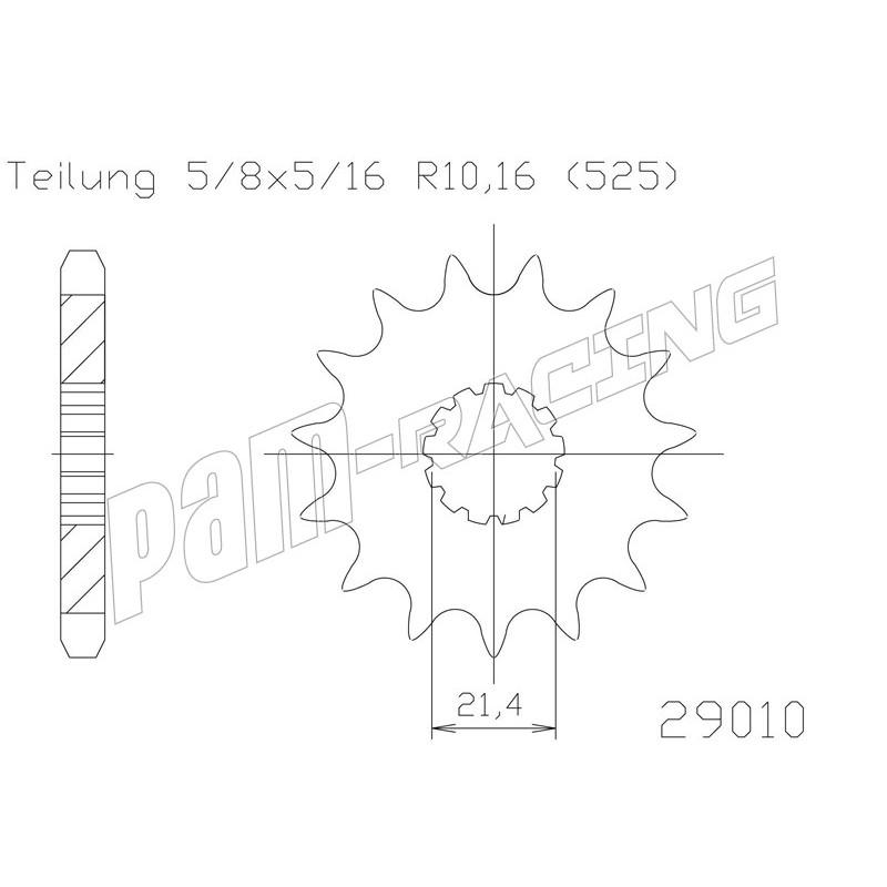 Pignon de sortie de boite 525 ZX10R, GSXR 600/750, D675