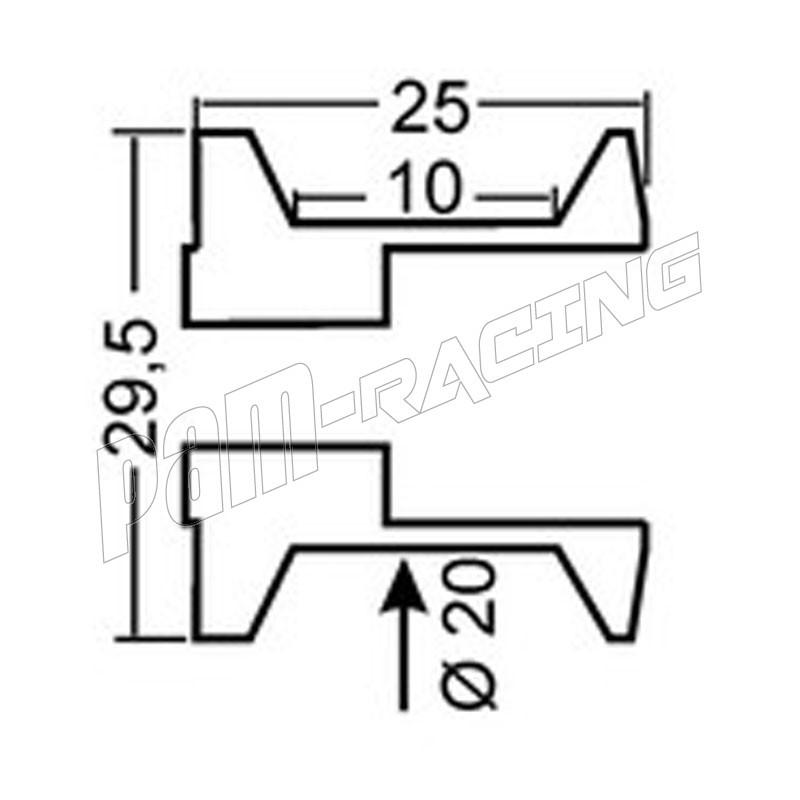 Diabolos support béquille 8 mm GSG MOTO Street Triple 765
