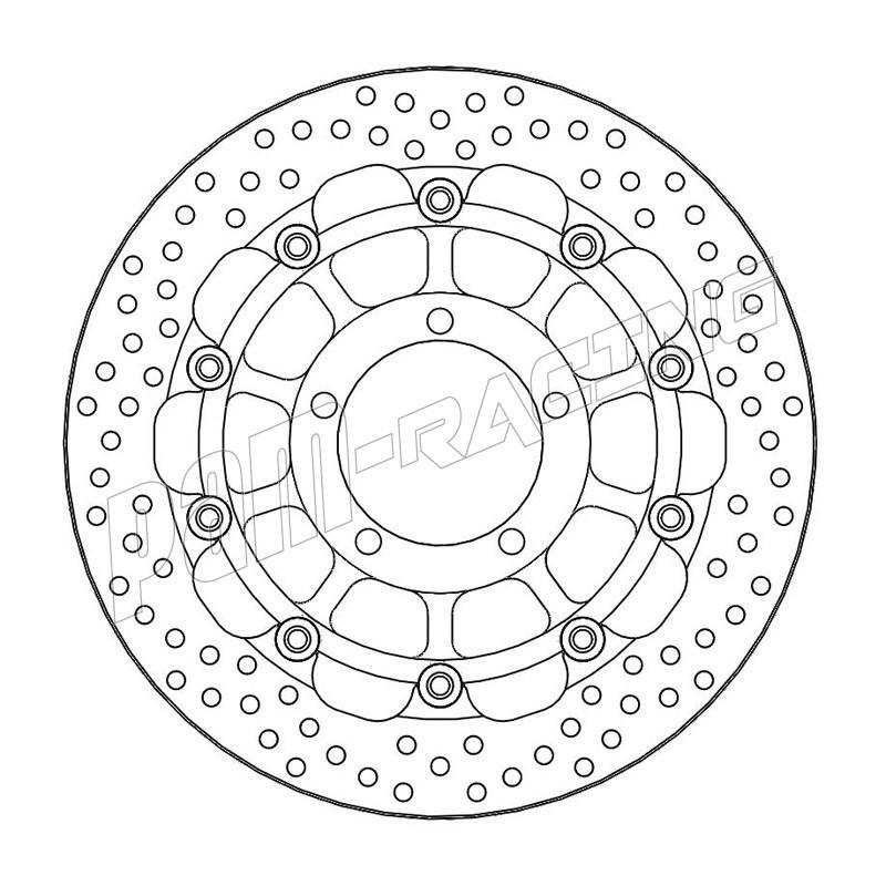 Disque de frein racing flottant Halo 310 mm ep 5.5 mm