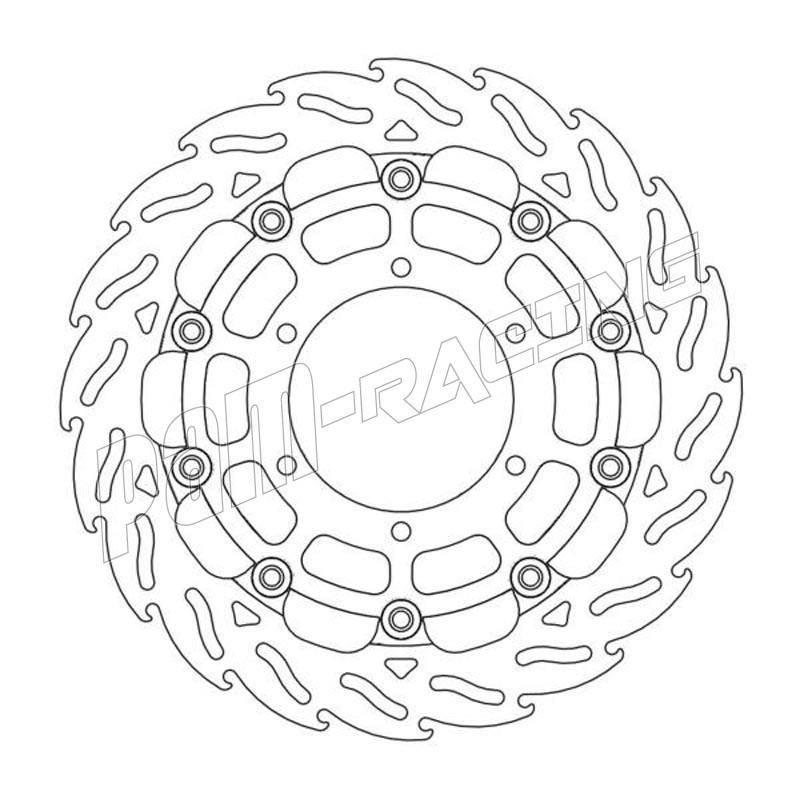 Disques de frein racing flottant Flame 310 mm ep 5.5 mm