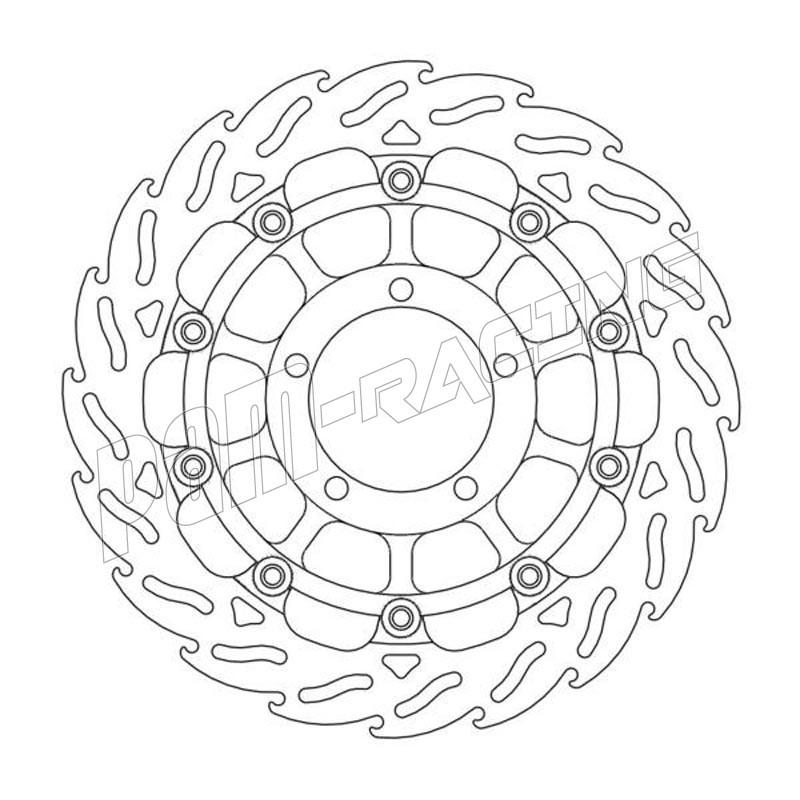 Disque de frein racing flottant Flame 310 mm ep 5.5 mm