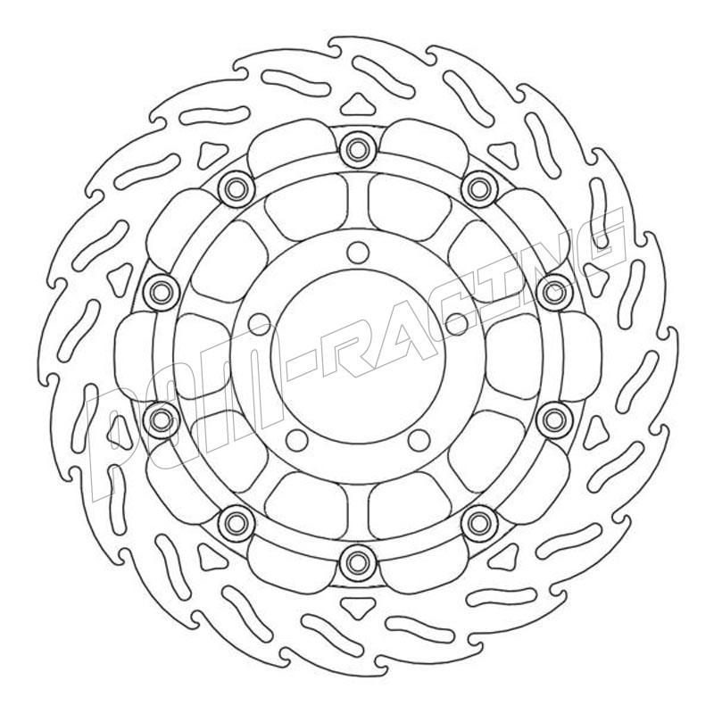 Disques de frein racing flottant Flames 310 mm ep 5.5 mm