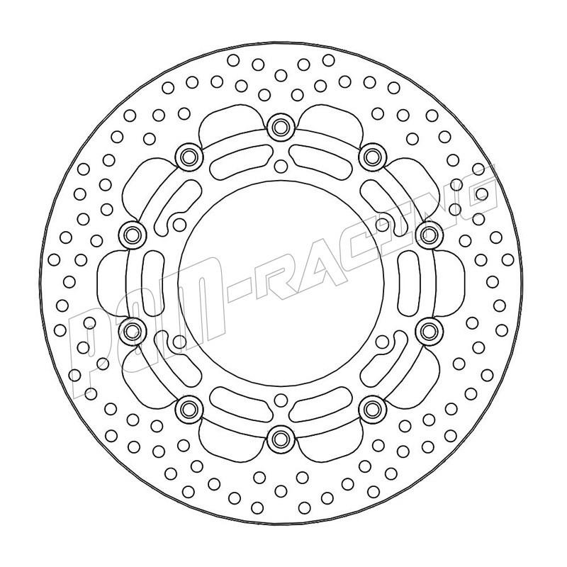 Disque de frein avant flottant Halo 310 mm ep 5.0 mm MT-01