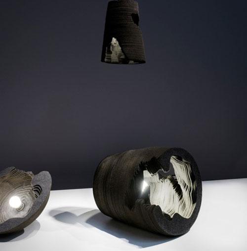 La lampada in lana di Snarkitecture per The Wool Lab Interiors