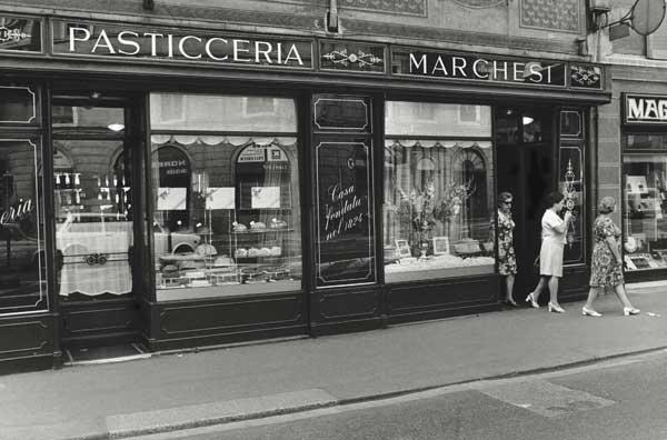 Un'immagine storica della Pasticceria Marchesi