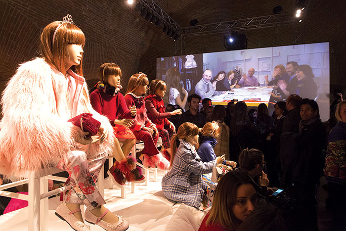 Un'immagine della presentazione del film di Simonetta 'Let the Journey Begin'