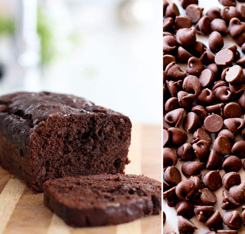 bolo de banana e chocolate duplo