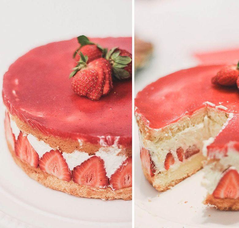 fraisier bolo frances de morango