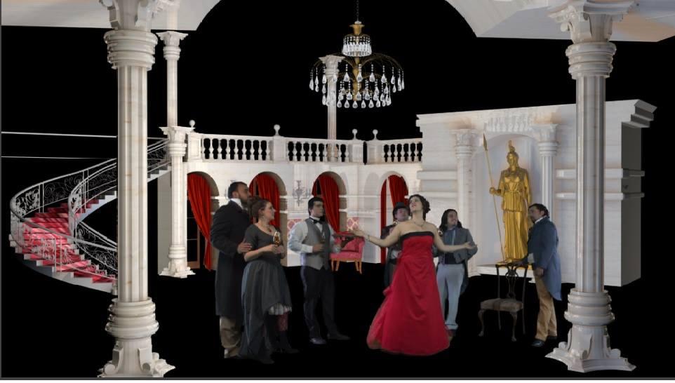 Pamela Flores y Patricio Saxton en Traviata Holográfica