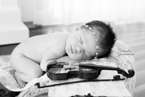 Baby Violinist Photography | Baby Fiddler Photos | Newborn Violinist Pictures | Baby Musician Photography | Baby Pictures with Instruments