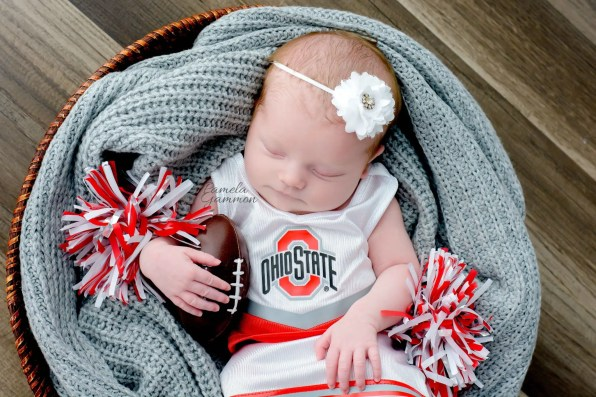 Ohio Newborn Football Photography
