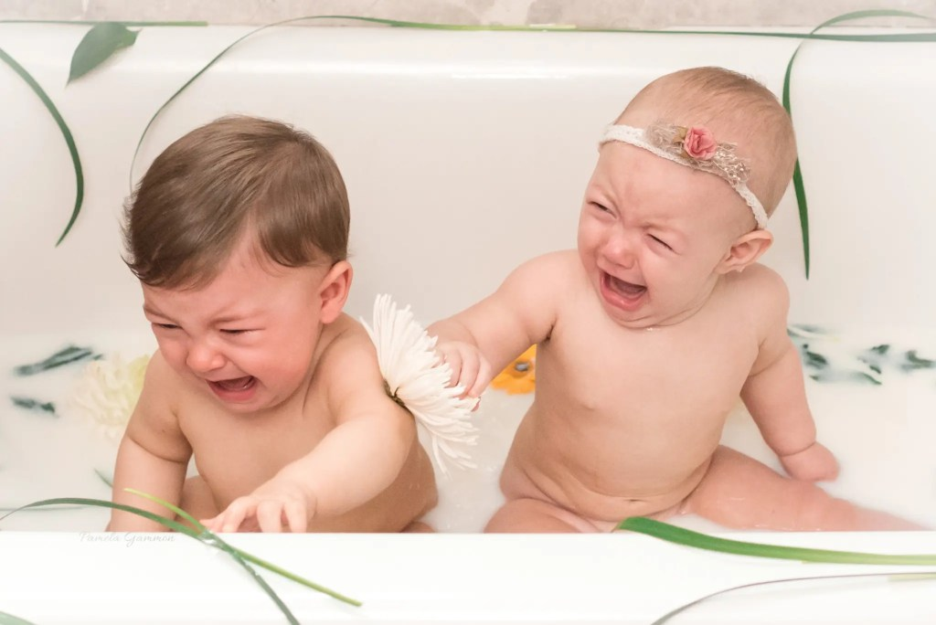 Milk Bath Baby Photography Ohio