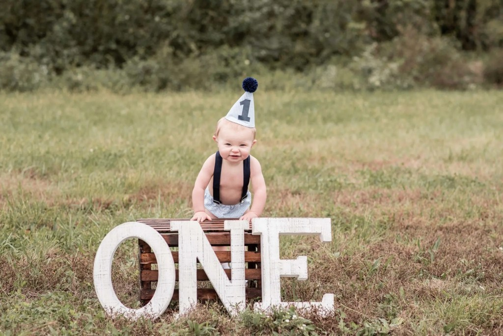 12 Month Old Baby Milestone Session Portsmouth Ohio