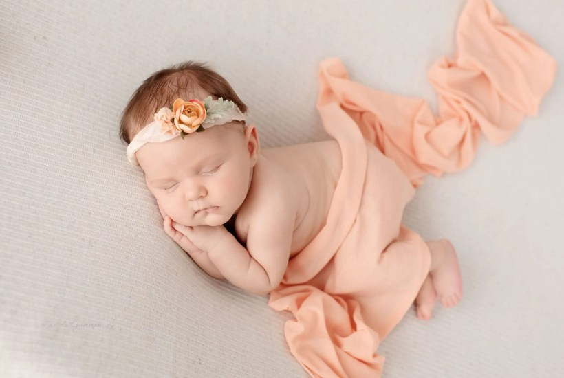 Newborn Girl Poses Ohio