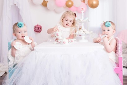 Imagination Sessions One Year Tea Party Photography Session Twins