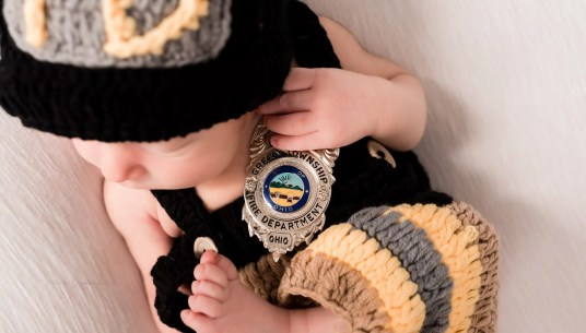 Firefighter Newborn Photography