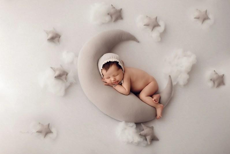 Moon Stars Photography Newborn Girl