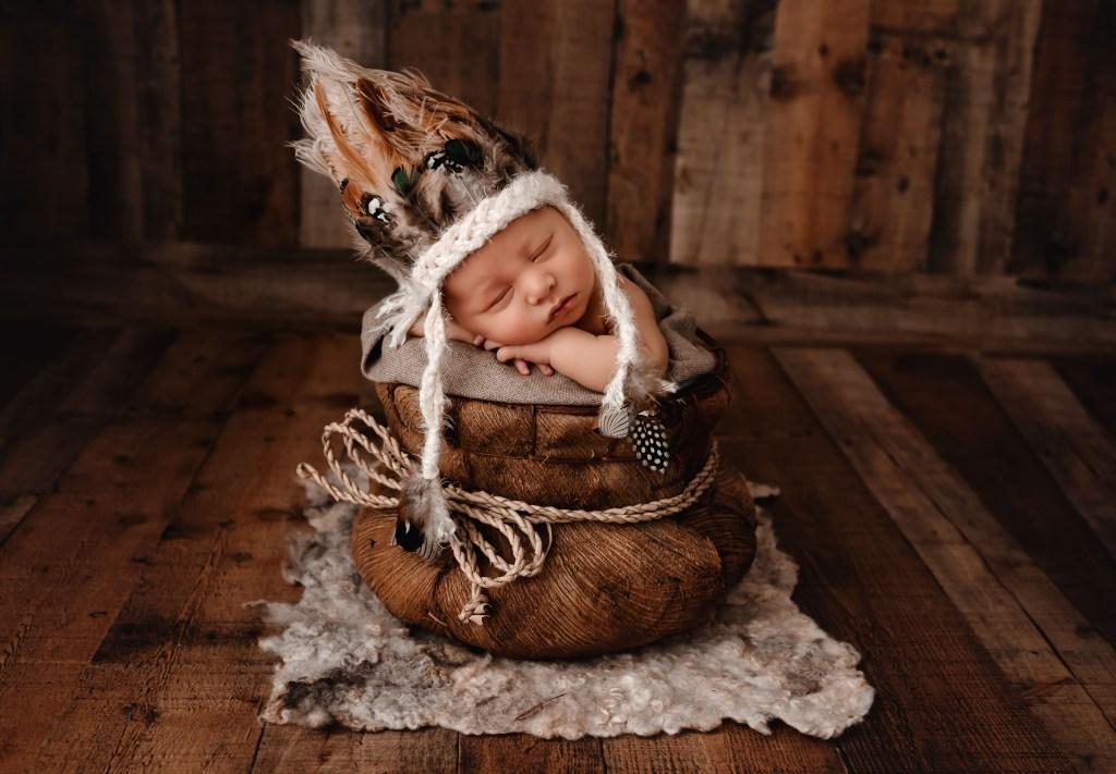 Native American Newborn Photography Session
