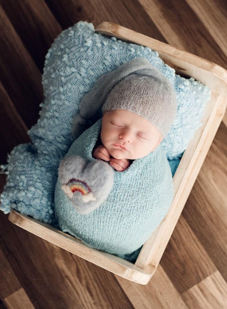 Newborn Boy Rainbow Photography