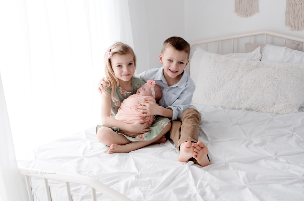 Southern Ohio Newborn Session with Siblings