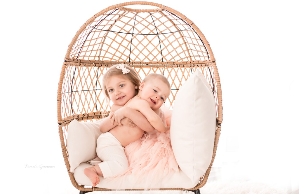 Sibling Photography Sitter Baby Session
