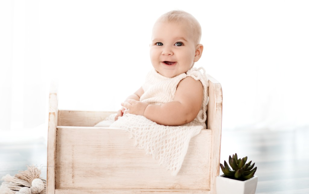 6 Month Baby Milestone Photo Session