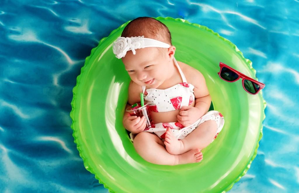Ohio Newborn Pool Imagination Session